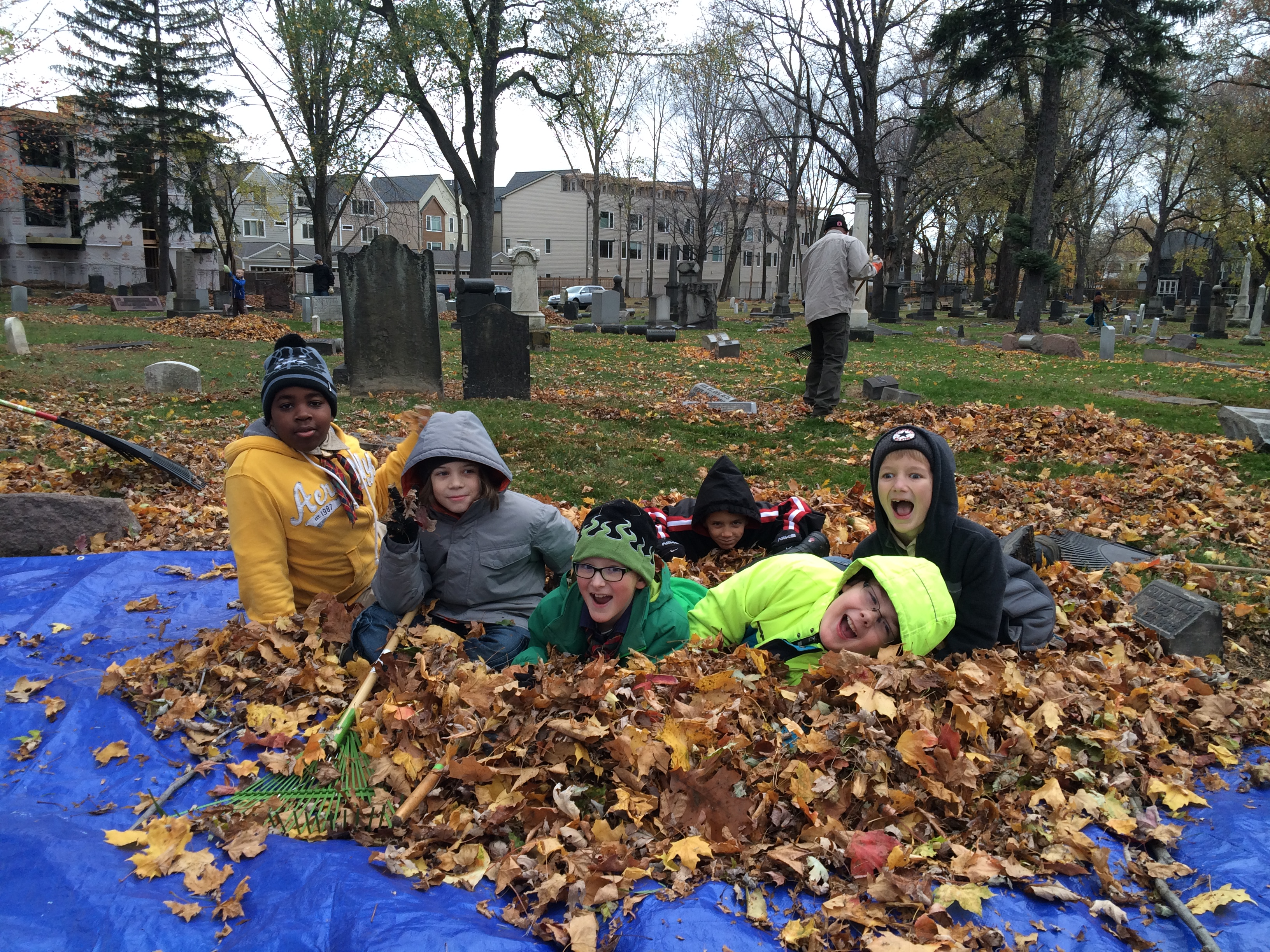 Pack 11 provided community service by raking at the East Cleveland Township Cemetery on November 14, 2015. The cub scouts had a great time and, along with other area scouts, raked the entire graveyard in less than 5 hours!